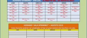 Horarios Agosto 2015 (Verano)