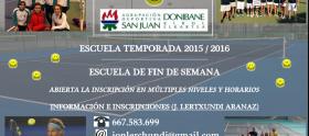 Cartel Escuela de Tenis 2015-16
