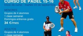 cartel escuela padel 2015