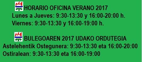 horario de oficina en verano 2017 agrupaci n deportiva